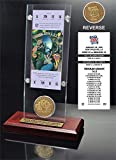 """NFL San Francisco 49ers Super Bowl 24 Ticket & Game Coin Collection, 12"""" x 2"""" x 5"""", Black"""
