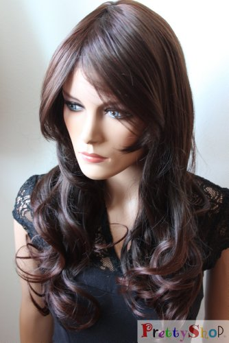 Generic Fashion Lady Wig Long Hair Cosplay Curled Wavy BROWN CHOCOLATE Heat-Resistant]()