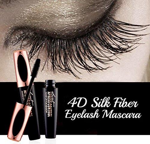 4D Silk Fiber Eyelashes Mascara - Waterproof Eyelash Extension Makeup Kit Thickening and Lengthening Long Lasting Charming Eye Makeup