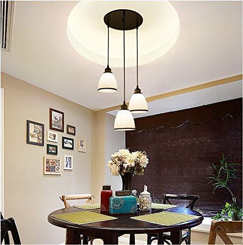 WEIYU Modernes Restaurant mit mit mit Glasglasleuchter, Beleuchtung der Hausbeleuchtung Bar Lampe DREI Kopf Mahlzeit Kronleuchter 6bcb23
