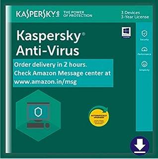 Kaspersky Anti-Virus Latest Version - 1 PC, 3 Years (CD): Amazon in