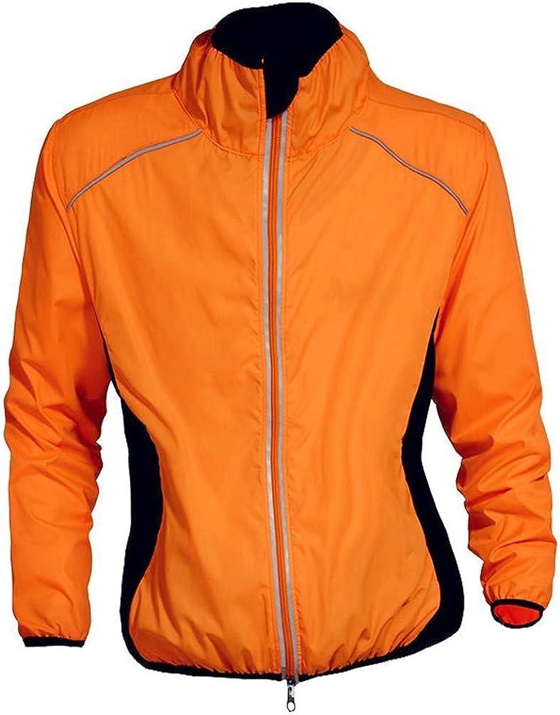 ESFHWYP Reflective Lightweight Jackets Wind Rain Coat for Men /& Womens Running Jogging Packable Windbreaker Waterproof