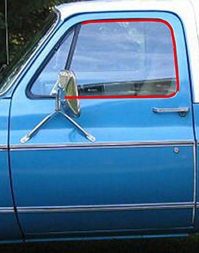 Window Sweep /& Run Channel Weatherstrip Seal Kit 6pc for 81-91 Pickup Truck