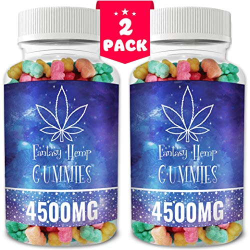 2 Pack Fantasy Organic Hemp Gummies 4500MG -75MG Per Gummy Bear with Premium Herbal Extract   Natural Candy Supplements for Pain