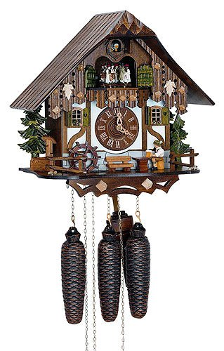 8-Day 13 in. Black Forest House Cuckoo Clock