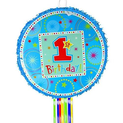 BOYS 1st Birthday Pull String Pinata