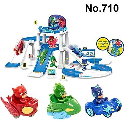 Game, Fun, Cartoon PJ Mask Parking Lot Toys Les Pyjamasques Connor Greg Amaya Racing