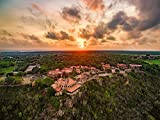 Canvas Wall Art, Altos de Chavon Sunset, La Romana Dominican Republic, Sold In Different Sizes, Ultra High Resolution, Ready To Hang, By Above Deco