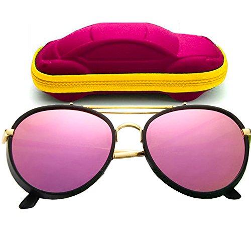 ONMet Kid Sunglasses Aviator Polarized UV Protection Baby Children 2017 New Fashion Eyewear 4-10 Year (Adorable - New Eyewear
