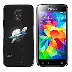LECELL--Funda protectora / Cubierta / Piel For Samsung Galaxy S5 Mini, SM-G800 -- Psychedelic Luna Espacio --