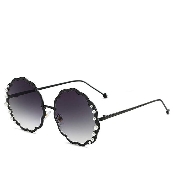 DBA Gafas de sol redondas extragrandes polarizadas con perla ...
