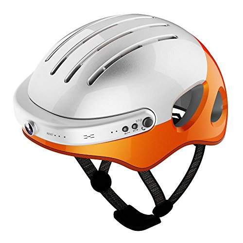 Airwheel C5 Intelligent Helmet with Front Camera and Bluetooth Speaker for Cycling, Mounting, Skateboarding (Carbon Black, Large) by Airwheel (Image #1)