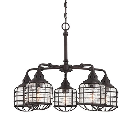 (Savoy House 1-571-5-13 Connell 5 Light Chandelier in Matte Black w/ Gold)