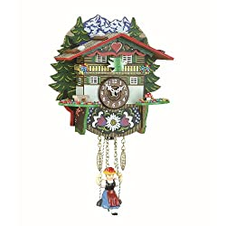 Trenkle Kuckulino Black Forest Clock Swiss House with Quartz Movement and Cuckoo Chime TU 2024 SQ