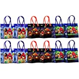 """Angry Birds Party Favor Goodie Gift Bag - 6"""" Small Size (12 Packs)"""