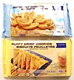 Butterfly Cookies Biscuits Palmiers and Puffy Crisp Cookies Biscuits Feuilletes Value Package