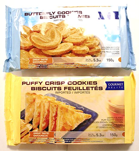 Butterfly Cookies - Butterfly Cookies Biscuits Palmiers and Puffy Crisp Cookies Biscuits Feuilletes Value Package