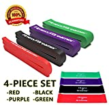 Assisted Pull-Up Band, Resistance & Stretch Bands by Fitness Dreamer. Band Starter e-Guide INCLUDED. Choose between 5 levels 41'' in Length (#6 Four-Piece Set (Red, Black, Purple, Green))