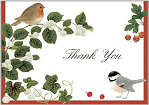 Amazon.com: Entertaining with Caspari Winter Birds Thank