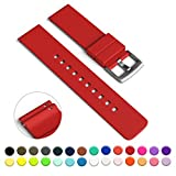 GadgetWraps 22mm Silicone Watch Strap / Band with Quick Release Pins (Red, 22mm)