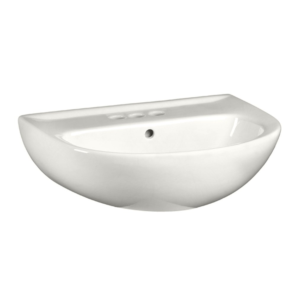 American Standard Evolution Oval Pedestal Sink Top, 4 in Centerset, White (Sink Only) - CBS BAHAMAS LTD