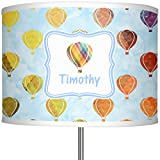 RNK Shops Watercolor Hot Air Balloons 13'' Drum Lamp Shade Linen (Personalized)