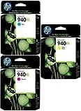 HP 940XL Cartouche d'encre d'origine Pack de 3 Cyan Magenta Jaune