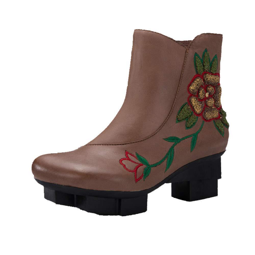 ZPEDY Chaussures B07H9S7LP9 pour ZPEDY Femmes, Brown Vintage, Personnalité, Talons Hauts, Chaussons, Confortables, Antidérapants Brown a3f02d5 - deadsea.space