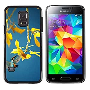 iKiki Tech / Estuche rígido - Spring plant - Samsung Galaxy S5 Mini, SM-G800, NOT S5 REGULAR!