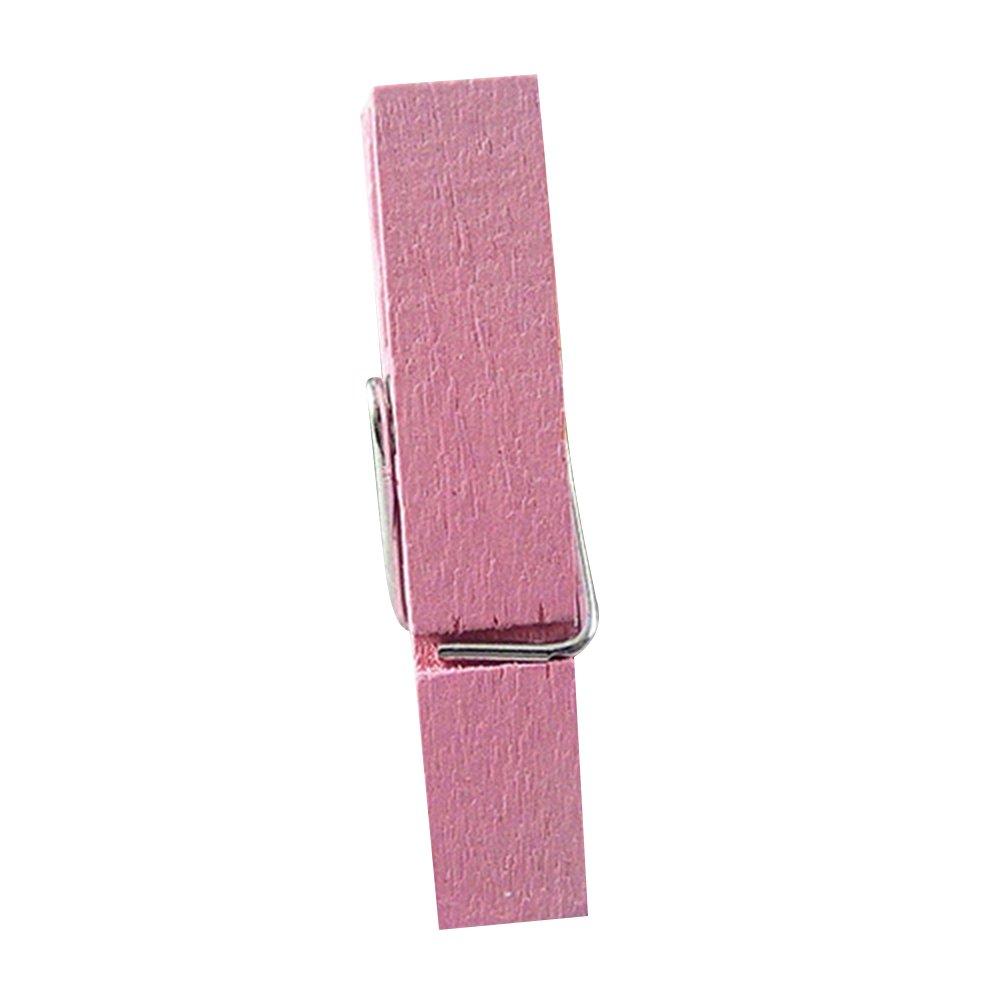 yamalans 20個マルチカラーWood Clothespins木製ランドリーClothespinsペーパークラフトクリップ S ピンク XPRB1445S0V12YQVSBOYVI B078MN9499 ピンク
