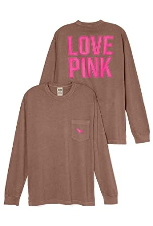 84f2b7402922d Victoria's Secret Pink Long-Sleeve Campus Pocket Tee, Bora Bora ...
