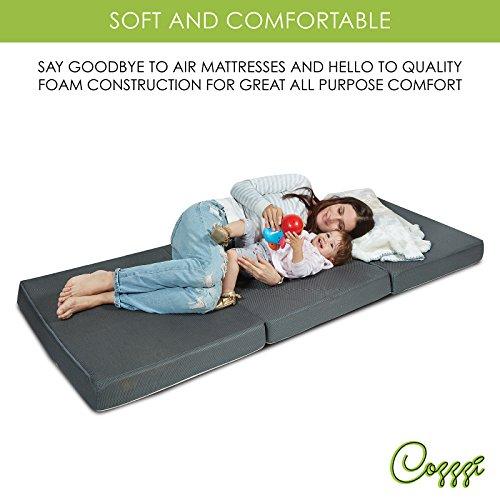 Cozzzi Trifold Foam Folding Mattress Lightweight And