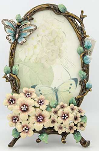 ChezMax International Designs Butterfly Flower Pattern Metal Photo Frames Friends Gift Picture Frame Table Top Frame 7