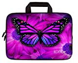 iColor Butterfly 11.6 12 Inch Laptop Case Protective Sleeve Bag Briefcase with Handle (IHB12-005)