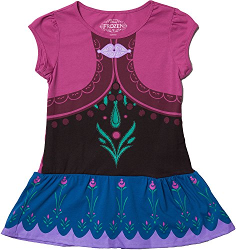 [Little Girls (sizes 2T-6x) Disney Anna Costume Tunic Purple 4] (Baby Anna Costumes Frozen)