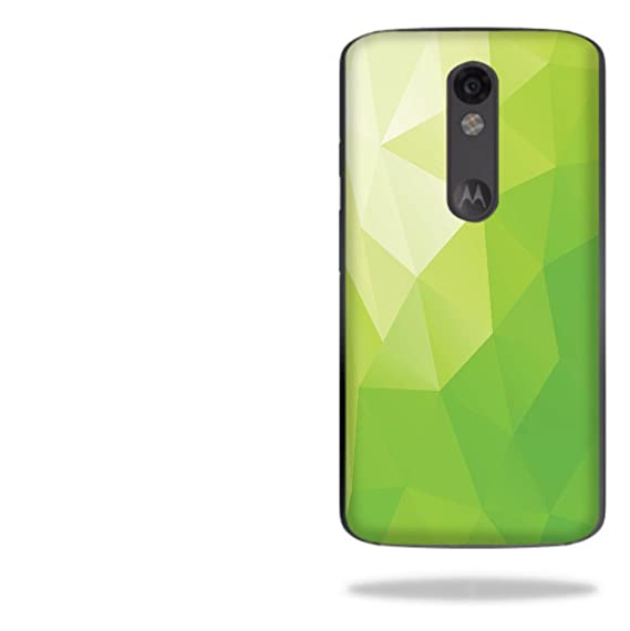 Lime Green Polygon Design Droid Turbo 2 Vinyl Decal Sticker Skin