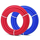Happybuy Oxygen O2 Barrier PEX Tubing - 2 Rolls of 1/2 Inch X 100 Feet Tube Coil - EVOH PEX-B Pipe for Residential Commercial Radiant Floor Heating Hot Cold Water Plumbing PEX Tubing (2 X 100Ft)