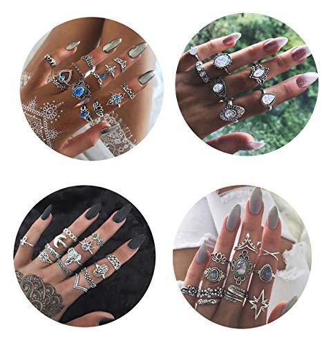 Besteel 44 Pcs Knuckle Rings Set...