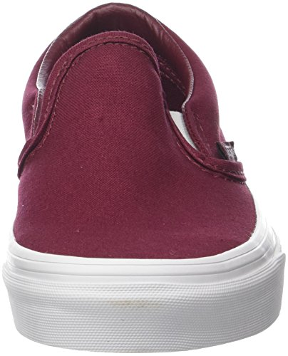 Vans Enfiler Adulte Slip Mixte Baskets Classic on Mono Rouge Canvas raHrI
