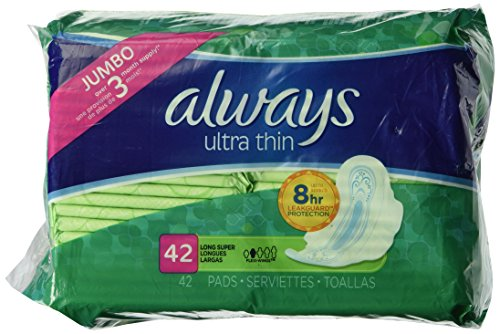 Always Ultra Thin Pads Super W/Flexi-Wings Unscented 42 Count