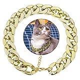 Legendog Dog Neck Chain, Cuban Link Dog Collar Pet Chain Collar Fashion Cool Plastic Pet Chain Necklace for Cat Dog