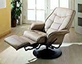 Coaster Furniture 7502 Berri Swivel Recliner with Flared Arms in Beige 7502