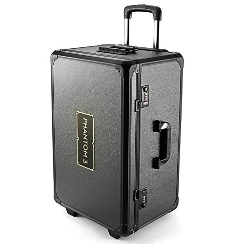 Realacc Aluminum Trolley Case Pull Rod Hand Box Case for DJI Phantom 3 Professional Advanced -  KUMIXSHOP