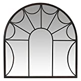 Aspire Carlita Arched Window Wall Mirror, Brown