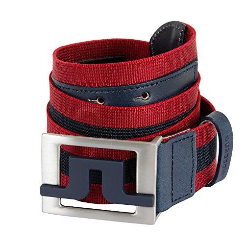 J Lindeberg Slater Belt (J.Lindeberg Slater 40 Striped Webbing Belt Navy 95/34)