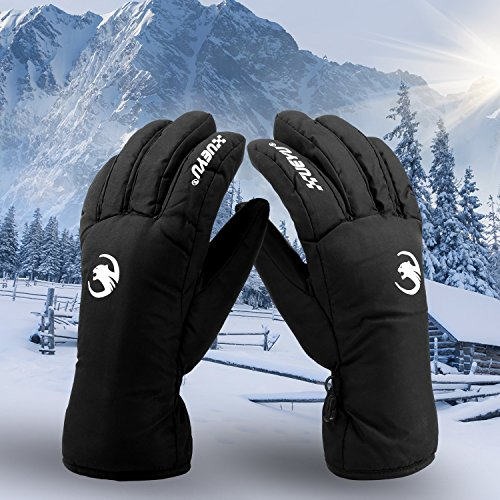 Winter Waterproof Gloves, Oumers 100% Water Resistant Screen Touch Warm Motorcycle Outdoor Sport Insulated Gloves Best for Snow Skiing Snowboarding Snowmobile