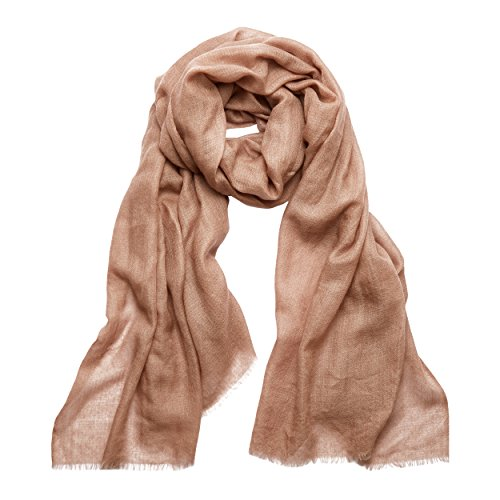 MoonCats Premium Cashmere-Silk Scarf (Taupe) by Moon Cats (Image #2)