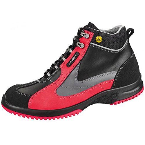 Abeba 31792-41 Uni6 Stivali ESD-Scarpe di di sicurezza, taglia 41, colore: nero/rosso