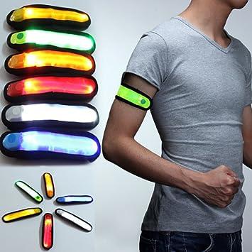 LED Armband Reflektor Band Leuchtband Sicherheits Licht für Jogger Joggen Kinder