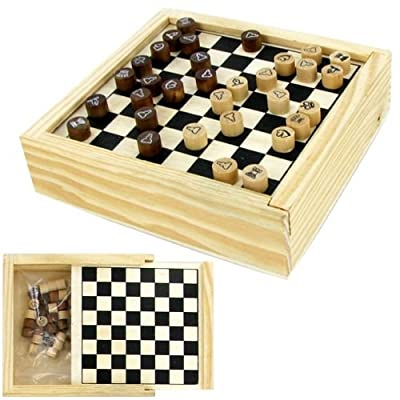 Travel mini Chess set in wood box